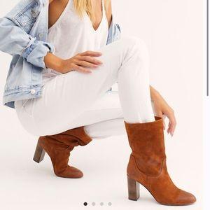 Free People🍂🍁Dakota Heel suede slouchy boots